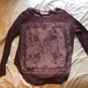 Urban outfitters maroon long-sleeve top